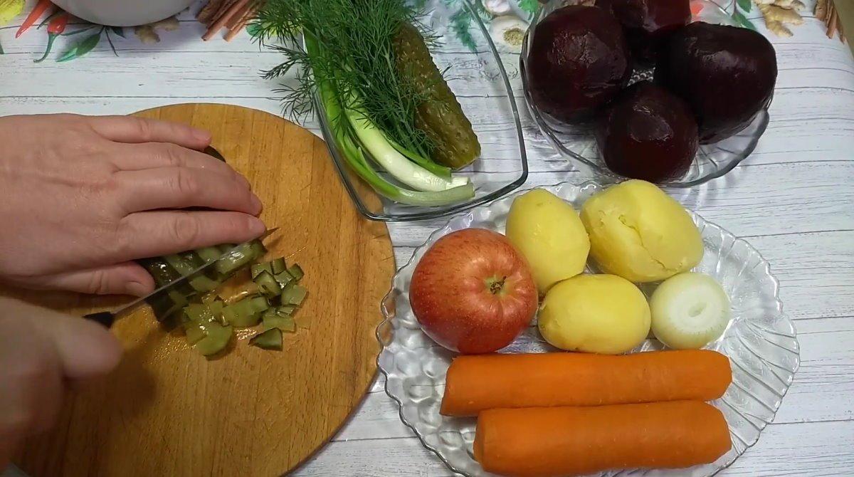 рецепт салата росолье
