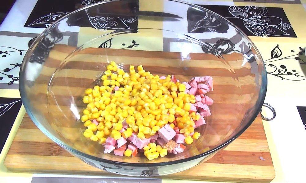 салат с вермишелью мивина рецепт