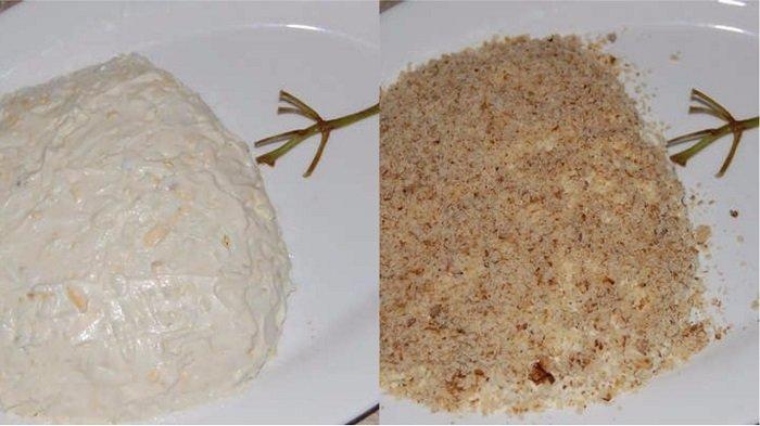 салат с виноградом и сыром чесноком
