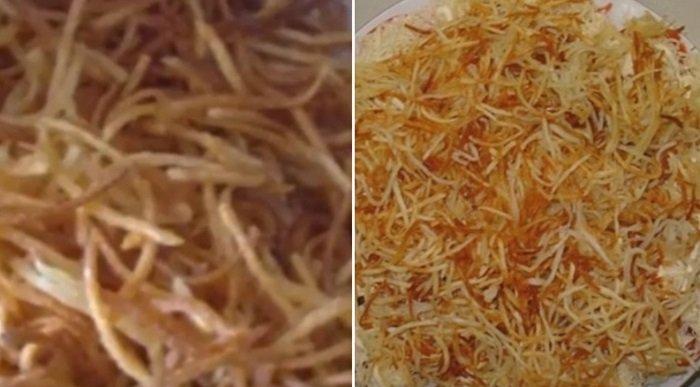 китайский салат с жареной картошкой