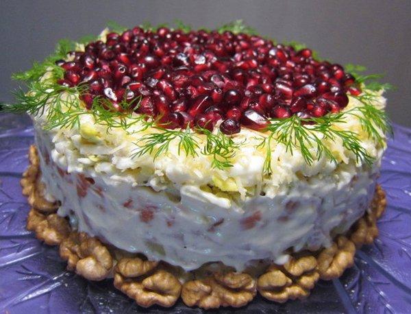 рецепты закусок и салатов к новому году