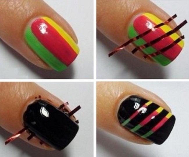 100 лучших новинок: Простые рисунки на ногтях в домашних 19