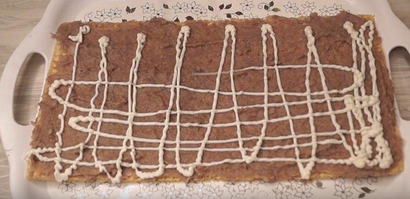 вафельный торт из селедки