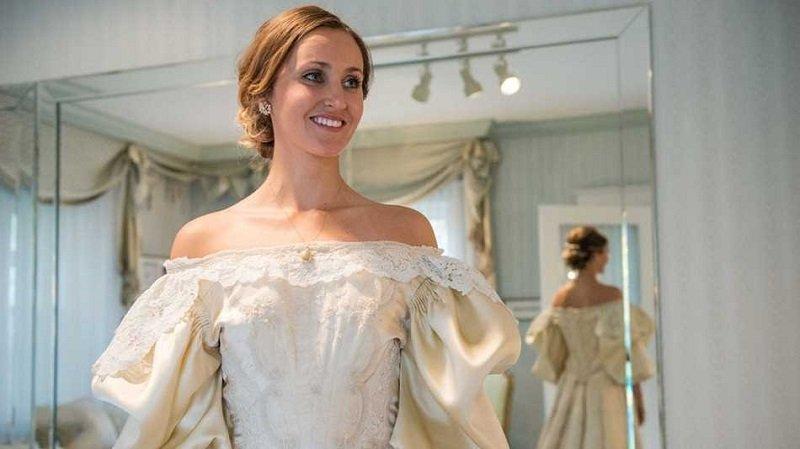 старинное свадебное платье