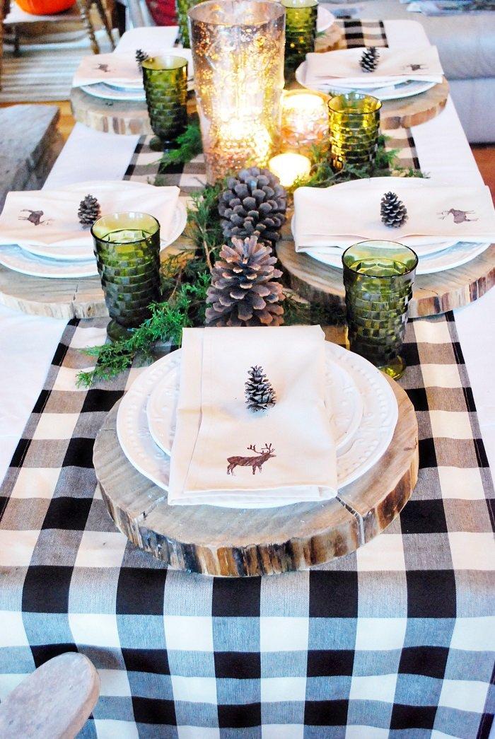 украшение стола салфетками