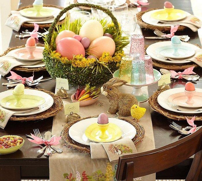 пасхальный декор для праздничного стола