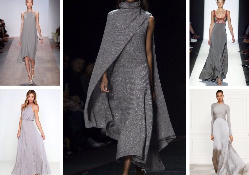 серые платья