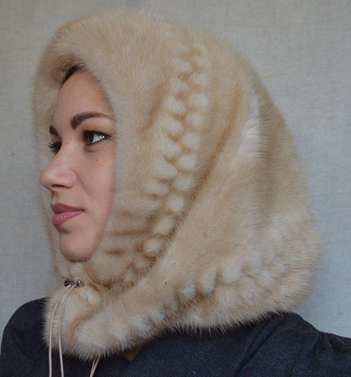 шапка капор женская