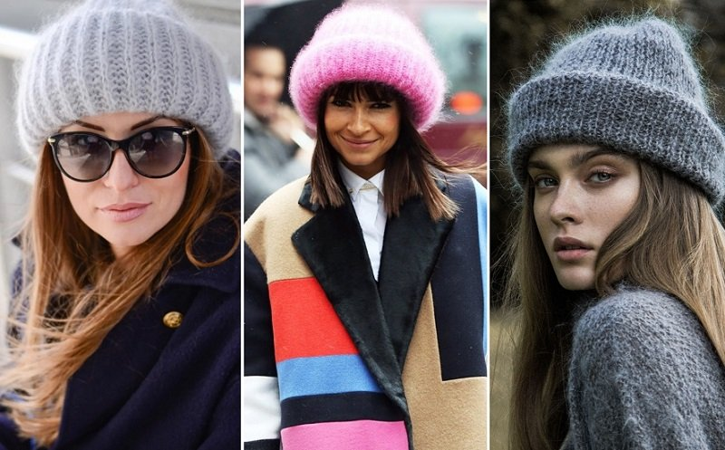 вязаные шапки для женщин за 50