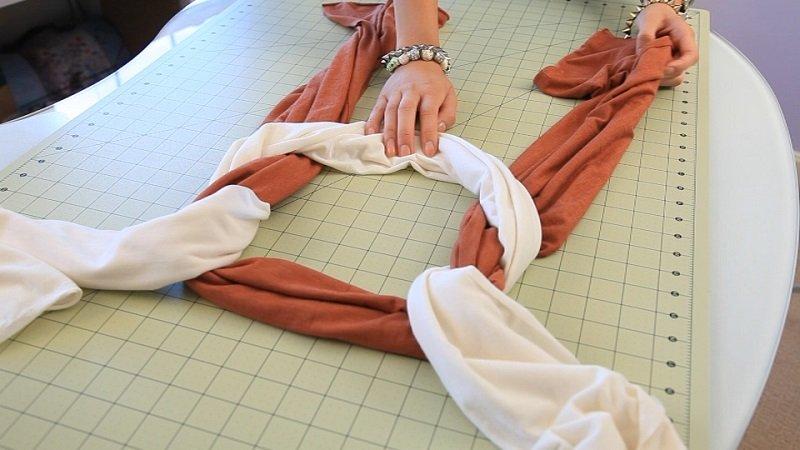 шарф из футболки