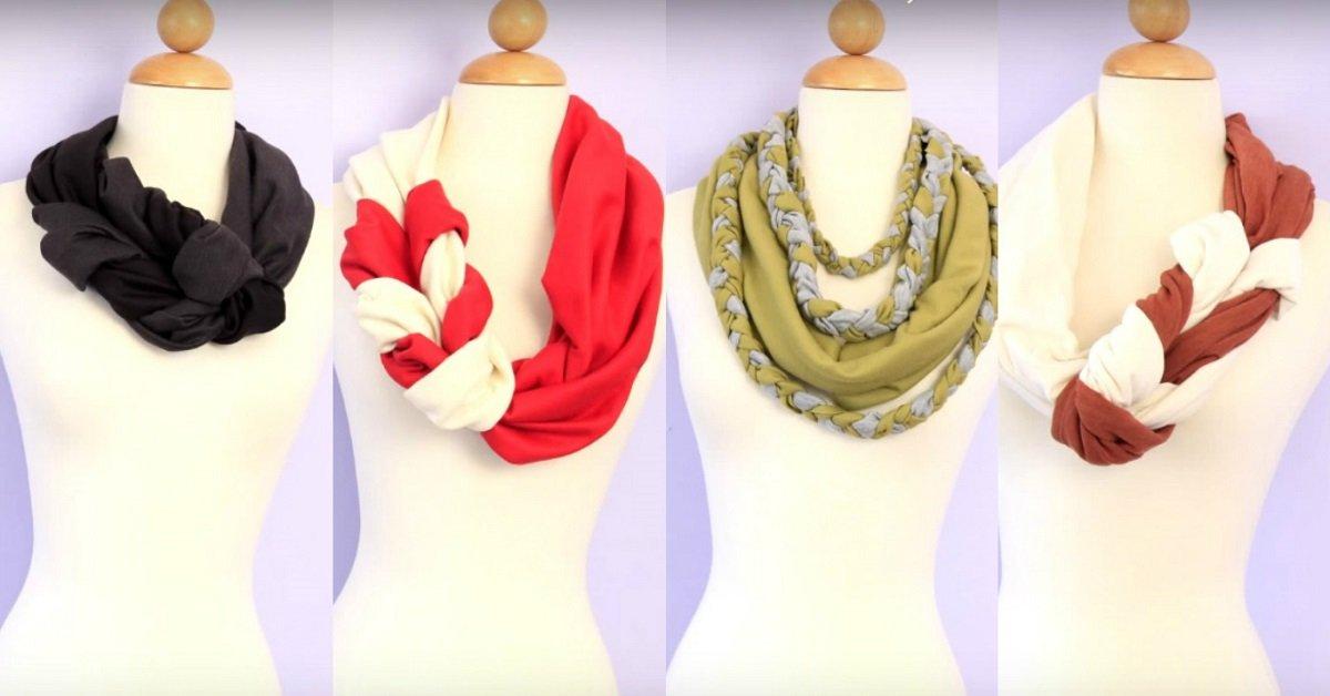 Все думали, что она купила эти шарфы в дорогом бутике. Ты ахнешь, узнав, из чего они сделаны!