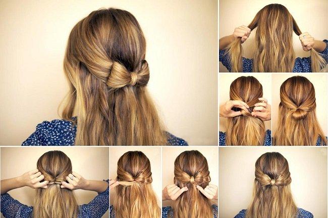 Быстрые прически на день рождение для длинных волос фото схемы.