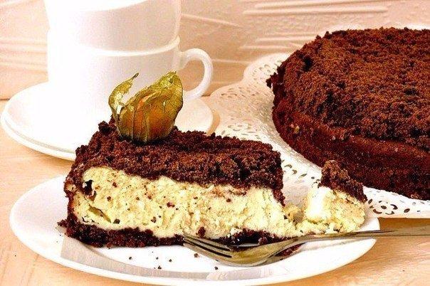 творожно-шоколадный пирог