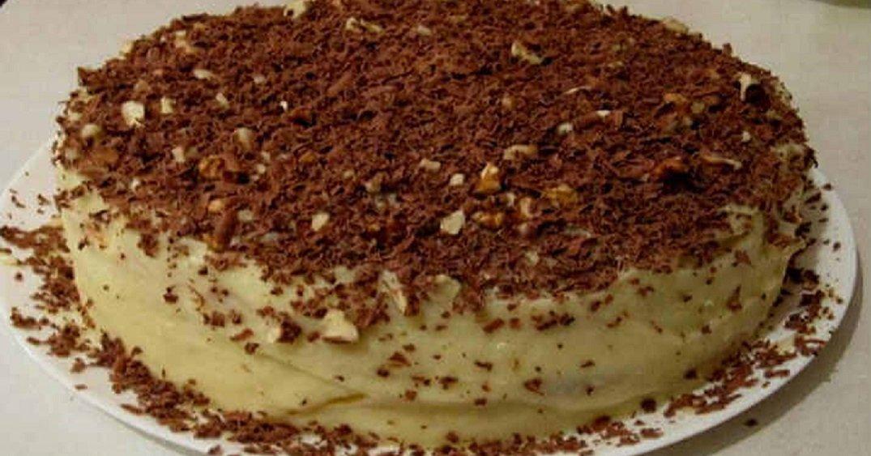 Творожный простой торт в домашних условиях