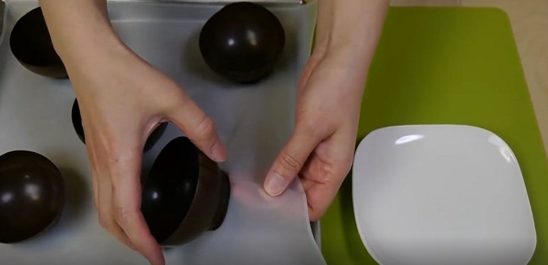 шоколадные блюдца