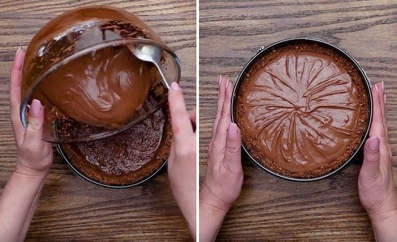 шоколадный чизкейк видео