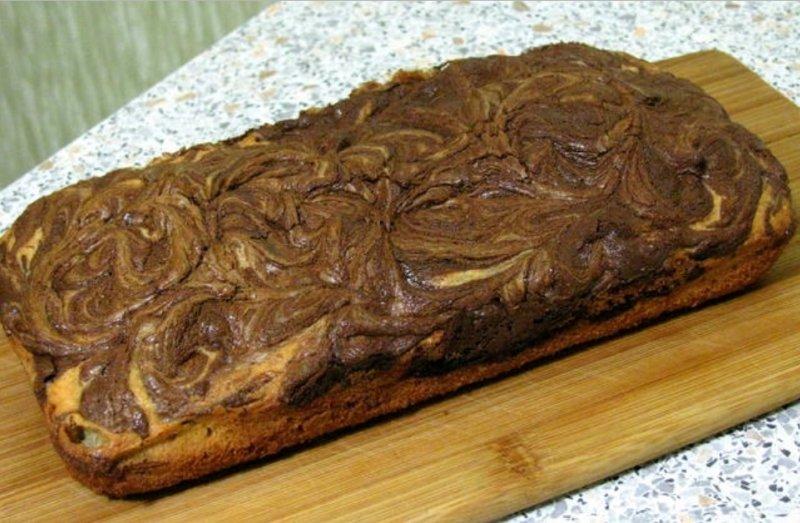 легкий шоколадный кекс в духовке