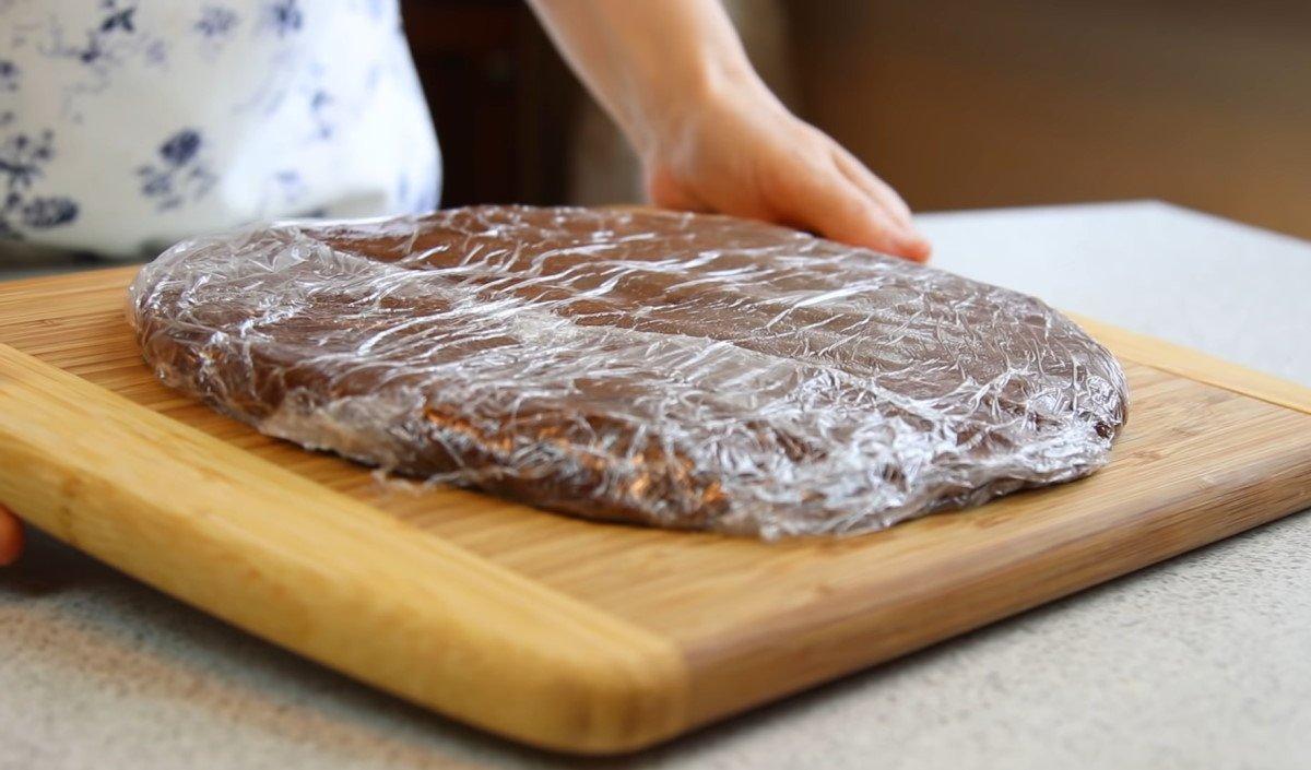 шоколадный пирог с творогом внутри