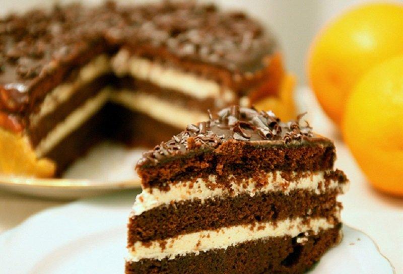 торт шоколадный из коржей фоторецепт