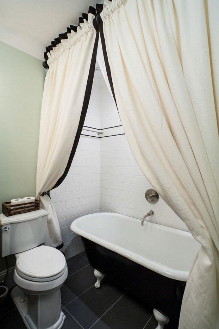 тканевые шторы для ванной комнаты