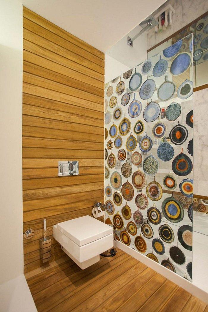 стеклянная перегородка для ванной комнаты