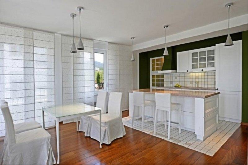 шторы на кухню варианты