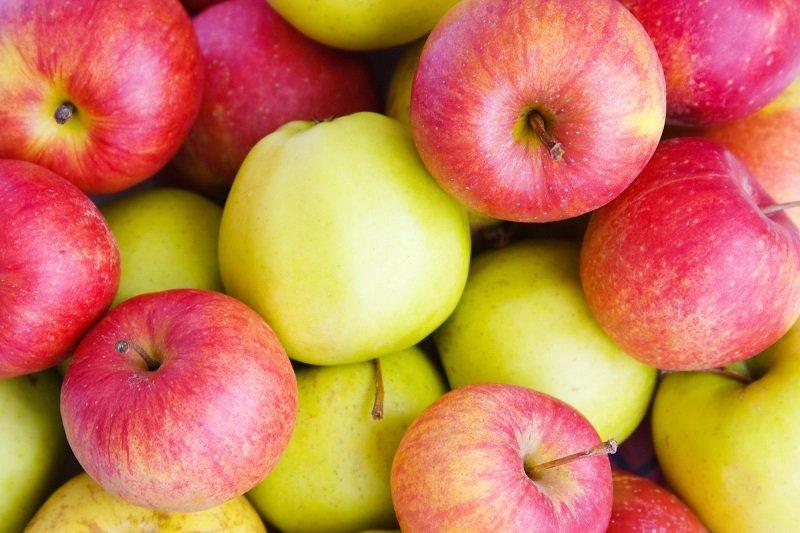 яблоки кубиком