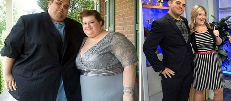 Ни за что не поверишь, что стало мотивацией для похудения этой парочки! Ну и дела…