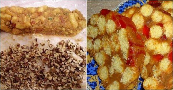пирожное из кукурузных палочек со сгущенкой