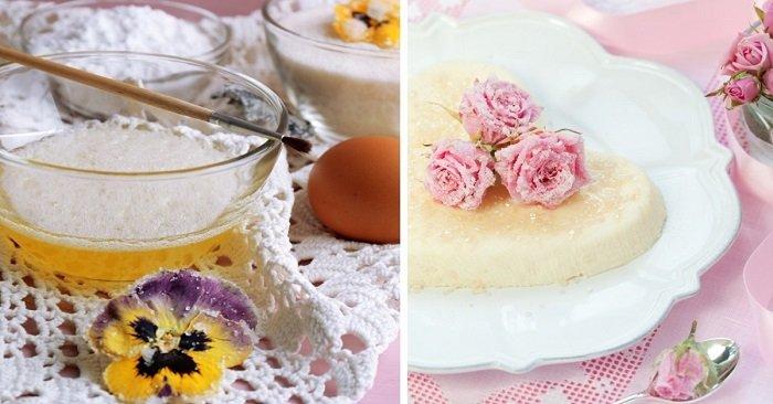 засахаренные цветы без яиц