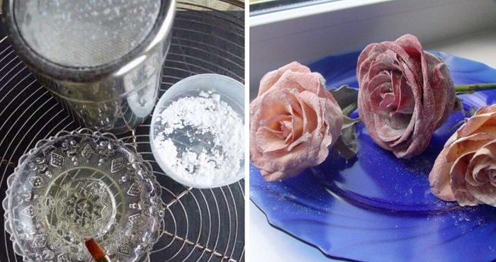 засахаренные цветы в домашних условиях