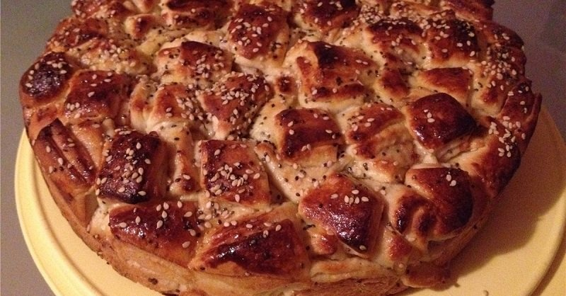 пирог в духовке из слоеного теста