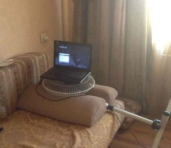 вентилятор и ноутбук