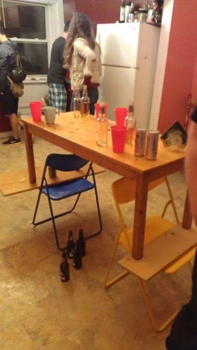 как сделать высокий стол