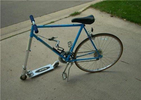велосипед и скейт