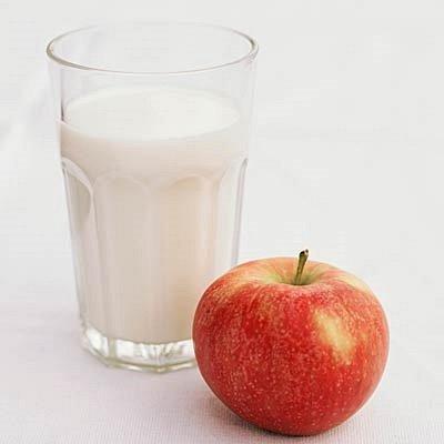 яблоко и молоко