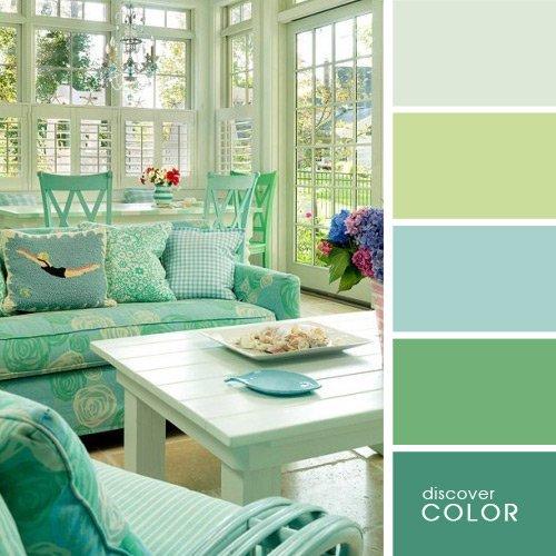 гостиная в зеленом