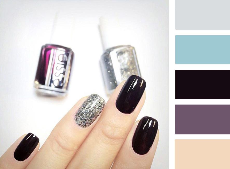Серебро с каким цветом сочетается на ногтях