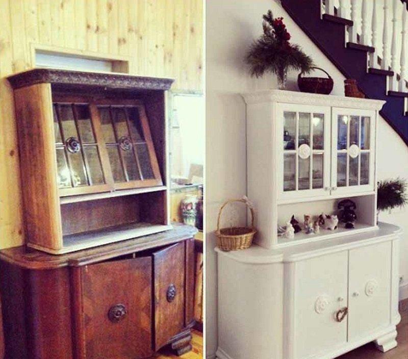 как покрасить старую мебель