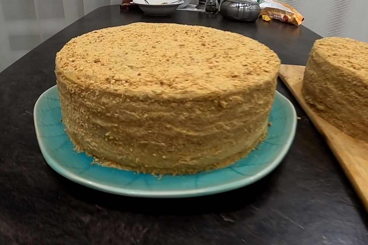 советский торт муравейник с орехами