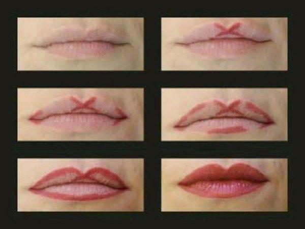 губы бантиком макияж