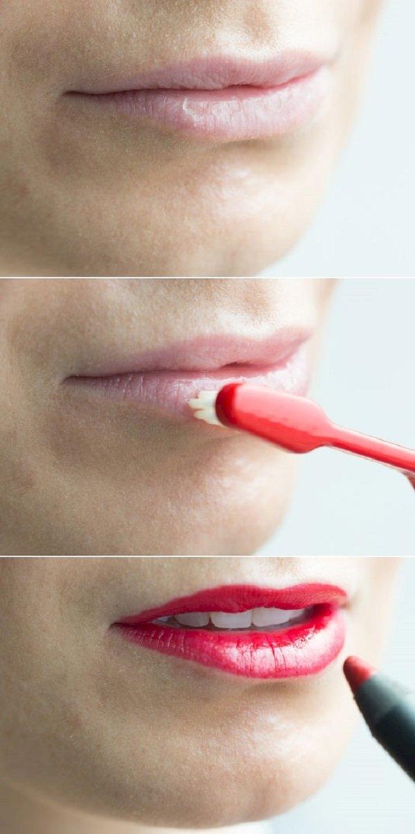 как очистить губы