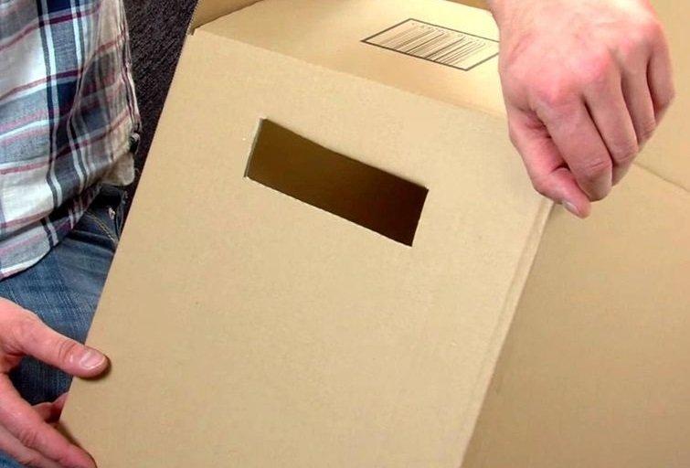 как носить коробки
