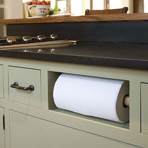место для хранения бумажных полотенец