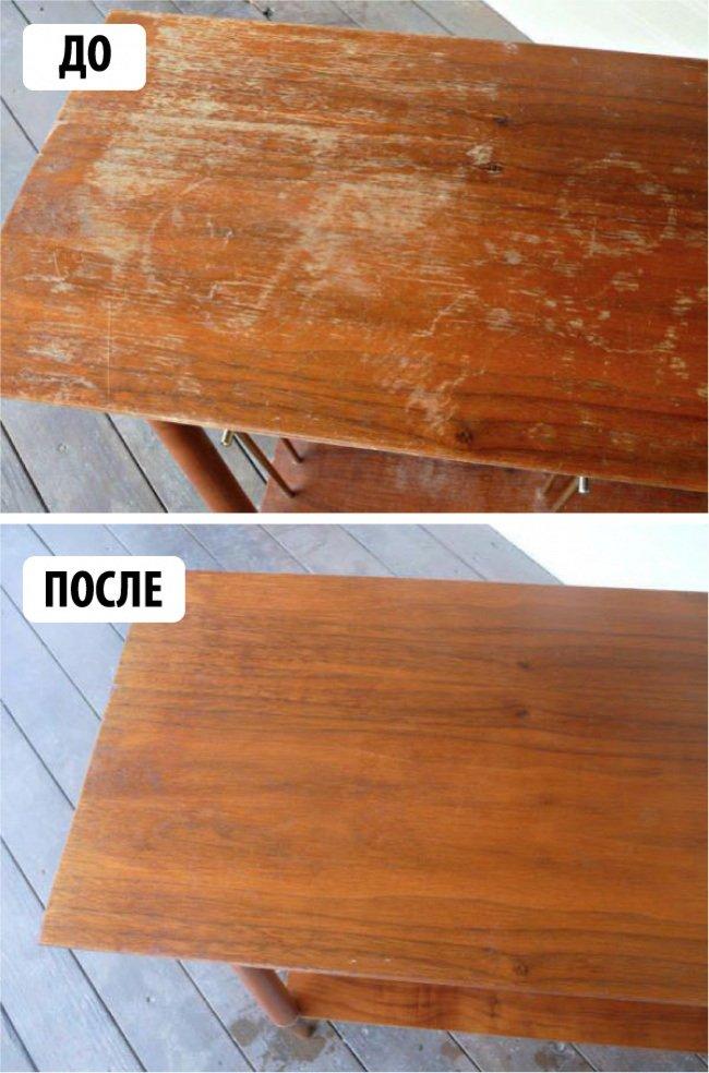 как восстановить деревянный стол