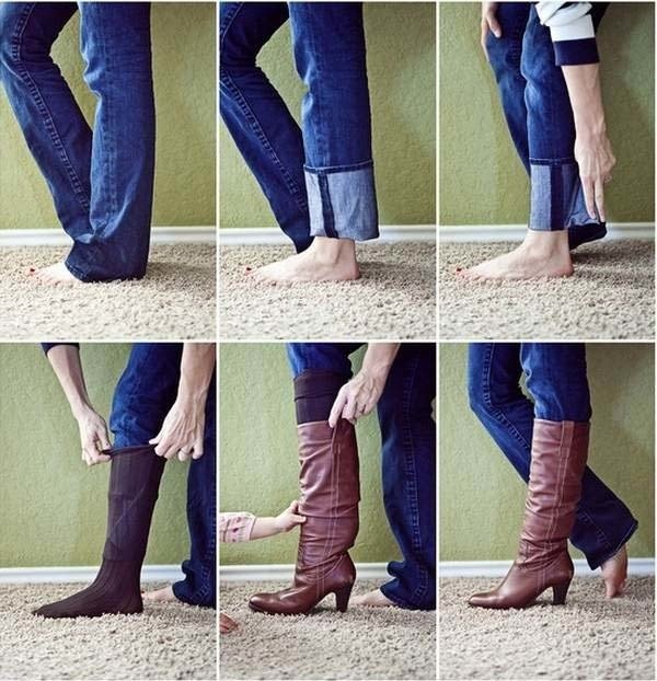джинсы в сапоге