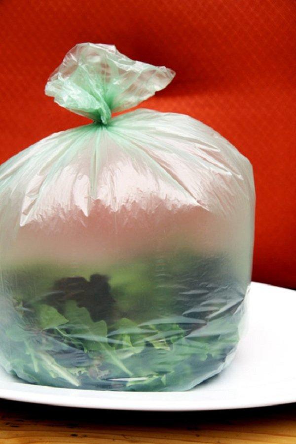 пакет с зеленью