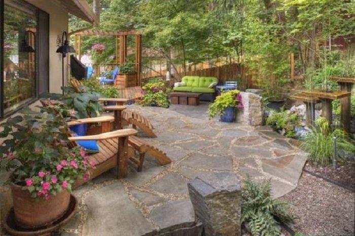 ландшафтный дизайн двора 10 соток