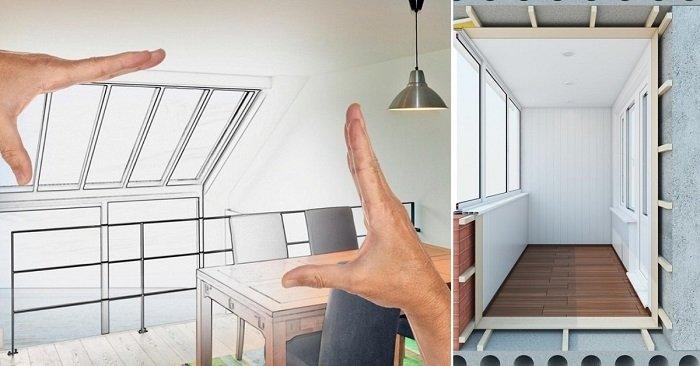 Даже крохотная лоджия — это комната! 13 дизайнерских идей.