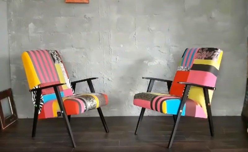 перетянуть старое кресло